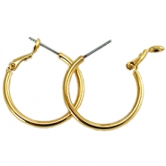 DQ creole earrings 20mm Gold plated