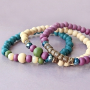 NEW Beautiful wooden beads in new colours