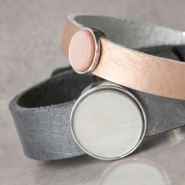 NEW New! Cuoio bracelets and DQ leather in metallic colours