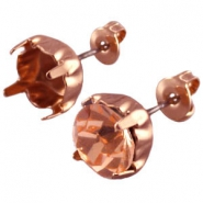 DQ earpins for SS39 chaton Rose gold plated
