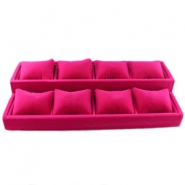 Jewellery display material Fuchsia