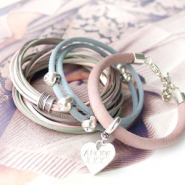 Inspirational Sets Bracelets with silk look