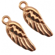 DQ charms angel wing Rose gold (nickel free)