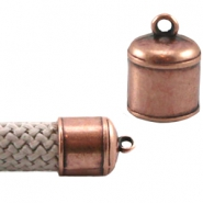 DQ metal end cap with eye (Dreamz cord) Copper