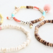 NEW New: natural shades coconut beads!