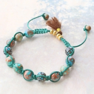 Inspirational Sets Bracelets and earrings with glass beads
