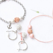 Inspirational Sets Jewellery with strass beads and acrylic beads with pearl coating
