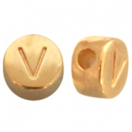 DQ metal letterbead V Gold (nickel free)