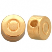 DQ metal letterbead O Gold (nickel free)