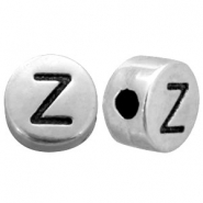 DQ metal letterbead X Antique silver (nickel free)