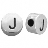 DQ metal letterbead J Antique silver (nickel free)