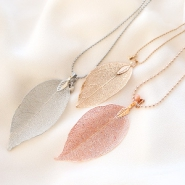 NEW Real leaf pendants + ball chain!