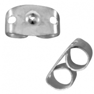 DQ metal earring backs Antique silver (nickel free)