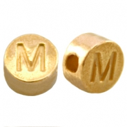 DQ metal letterbead M Gold (nickel free)
