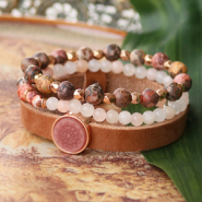 Inspirational Sets Inspiration: how to make beautiful bracelets with our natural stone beads