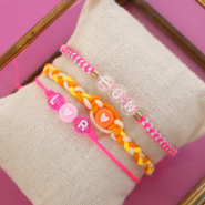 Inspirational Sets Summery inspiration with macramé bead cord, acrylic letter beads and jewellery cards