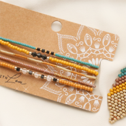 Inspirational Sets Make the cutest bracelets and earrings with Miyuki beads.