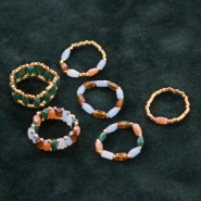 Inspirational Sets Making rings with top facet tube beads