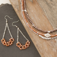 Inspirational Sets Inspiration: how to create necklaces and earrings with top facet beads