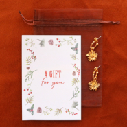 Inspirational Sets Gift set 2: Earrings with DQ metal charm