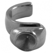 DQ metal ring for SS39 chaton Silver anthracite (nickel free)