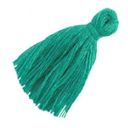 Small tassels Dark agate green