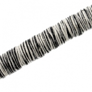 Knitted Cord 10mm  Black white