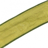DQ silk ribbon Bright olive green