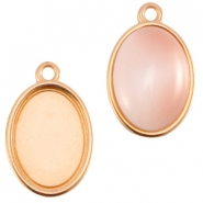DQ metal setting oval one loop (for 10x13mm cabochon) Rose gold (nickel free)