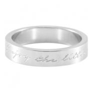 "Quote ring ""Enjoy the little things"" Silver"