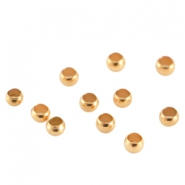 DQ metal crimp bead 2.5mm  Rose gold (nickel free)