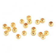DQ metal crimp bead 2.0mm Gold (nickel free)