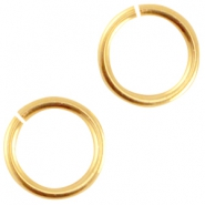 DQ metal jumpring 8mm Gold (nickel free)