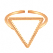 DQ metal ring traingle 15mm Rose gold (nickel free)