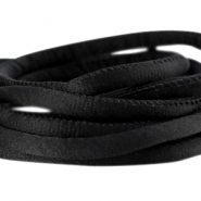 Stitched DQ silk cord 6x4mm Black