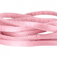 Stitched DQ silk cord 6x4mm Antique pink