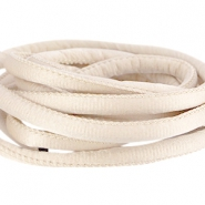 Stitched DQ silk cord 6x4mm Beige