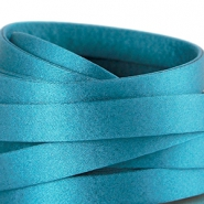 Flat DQ silk cord 10mm Dark scuba blue