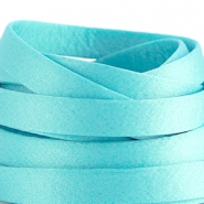 Flat DQ silk cord 10mm Aqua blue