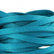 Flat DQ silk cord 5mm Dark scuba blue