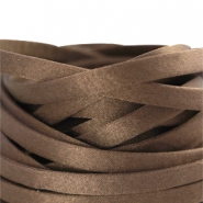Flat DQ silk cord 5mm Dark brown