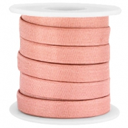 Trendy flat Jean-jean cord 10mm Antique pink