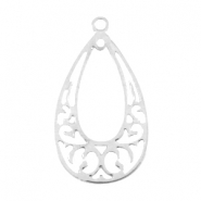 Drop shaped bohemian pendant Silver