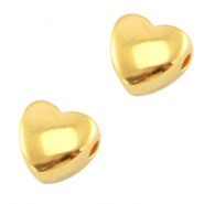 DQ metal bead heart Gold (nickel free)
