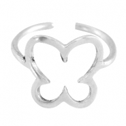 DQ metal ring butterfly 13mm Antique silver (nickel free)