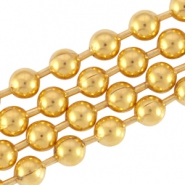 DQ metal ball chain 3.2mm Gold (nickel free)