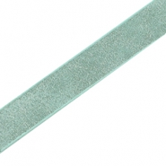 Flat faux 10mm Coco Dream leather Turquoise green