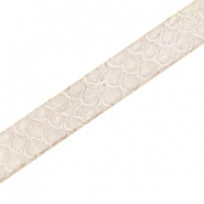 Flat faux Coco dream leather 10mm snake Metallic gold beige
