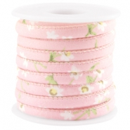 Trendy stitched cord 6x4mm Rose