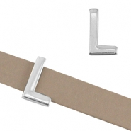 "DQ metal letter slider ""L"" Ø10.3x2.3mm Antique silver (nickel free)"
